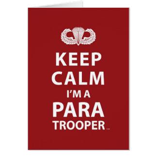 Keep Calm I'm A Paratrooper Card