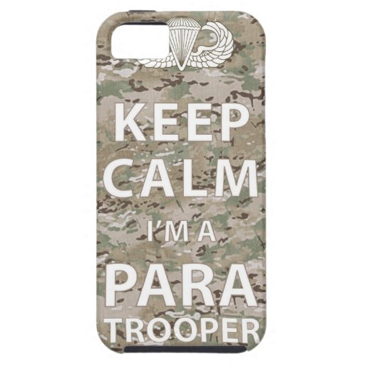 Keep Calm - I'm a Paratrooper iPhone 5 Cases