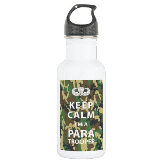 Keep Calm I'm a Paratrooper 18oz Water Bottle
