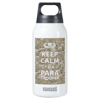 Keep Calm - I'm a Paratrooper 10 Oz Insulated SIGG Thermos Water Bottle