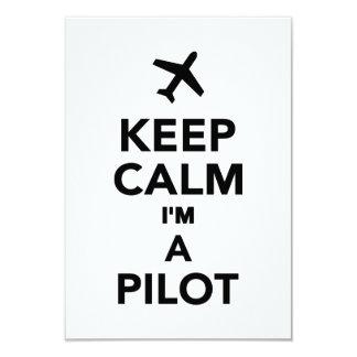 Keep calm I'm a Pilot Custom Invitations