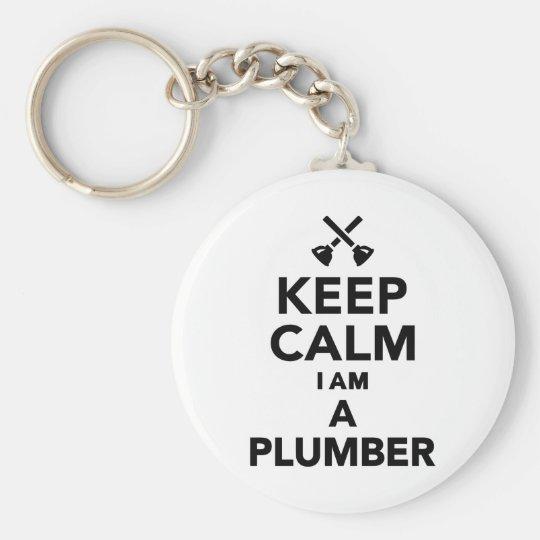 Keep calm I'm a Plumber Basic Round Button