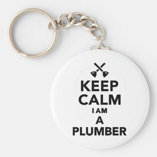 Keep calm I'm a Plumber Key Chains