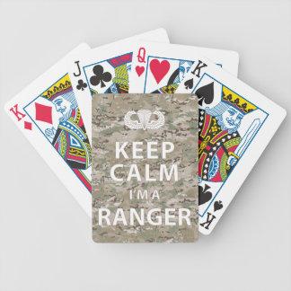 Keep Calm I'm A Ranger Poker Deck