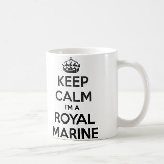 Keep Calm I'm A Royal Marine White Mug
