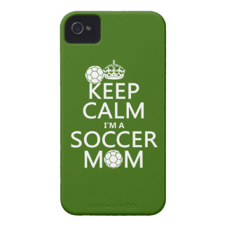 Keep Calm I'm a Soccer Mom (in any color) iPhone 4 Cover