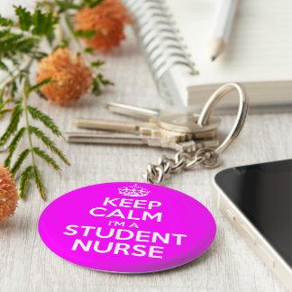 Keep Calm I'm A Student Nurse Basic Round Button Key Ring