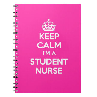 KEEP CALM I'M A STUDENT NURSE PINK NURSING GIFT NOTEBOOKS