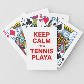 Keep Calm Im a Tennis Playa Bicycle Poker Deck