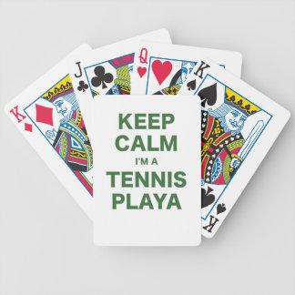 Keep Calm Im a Tennis Playa Poker Cards