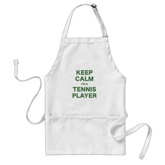 Keep Calm Im a Tennis Player Aprons