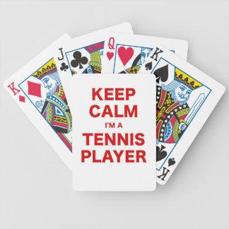 Keep Calm Im a Tennis Player Bicycle Card Decks