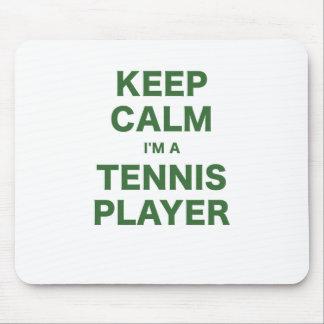 Keep Calm Im a Tennis Player Mouse Pad