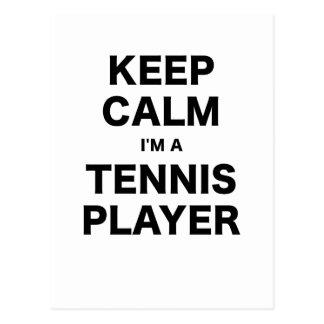 Keep Calm Im a Tennis Player Post Cards