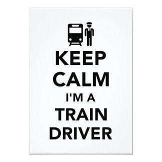 Keep calm I'm a train driver 9 Cm X 13 Cm Invitation Card