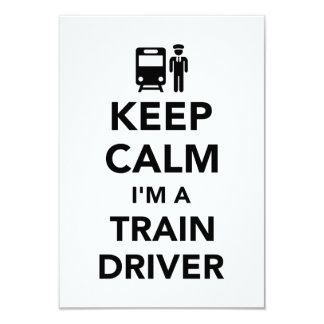 Keep calm I'm a train driver Card
