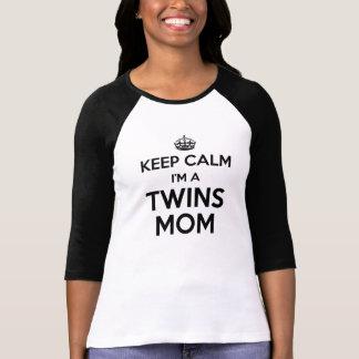 Keep Calm I'm a Twins Mom - Raglan t-shirt