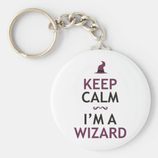 Keep Calm I'm A Wizard Basic Round Button Key Ring