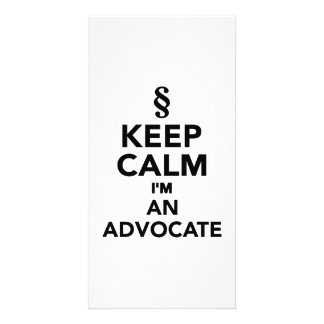 Keep calm I'm an advocat Personalized Photo Card