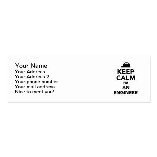 Keep calm I'm an Engineer Business Cards
