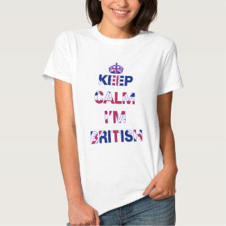 Keep calm I'm British Tee Shirts