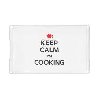 Keep Calm I'm Cooking Acrylic Tray