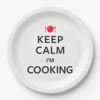 Keep Calm I'm Cooking Paper Plate