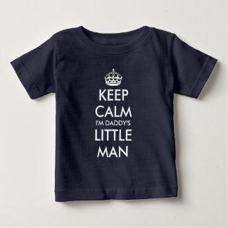 Keep calm i'm daddy's little man navy baby shirt