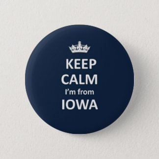 Keep calm I'm from Iowa 6 Cm Round Badge