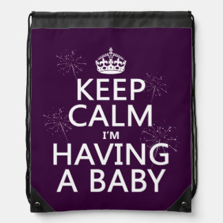 Keep Calm I'm Having A Baby (any color) Backpack