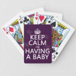 Keep Calm I'm Having A Baby (any colour) Poker Cards