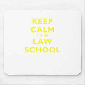 Keep Calm Im in Law School Mouse Pads