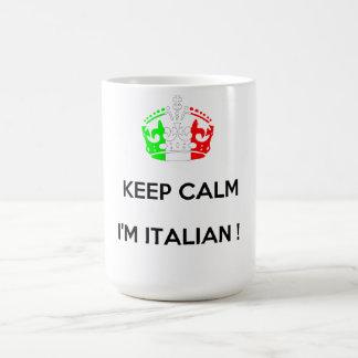 KEEP CALM I'M ITALIAN! BASIC WHITE MUG