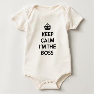 Keep Calm I'm the Boss baby shirt