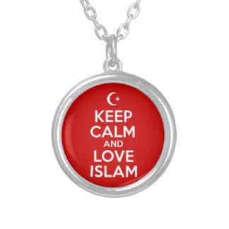 Keep Calm Islam Round Pendant Necklace