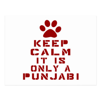 Keep Calm It Is Only A Punjabi Postcard