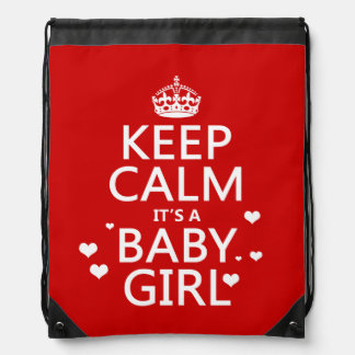 Keep Calm It s a Girl Backpack