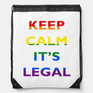 Keep Calm It's Legal Support LGBT BackPack