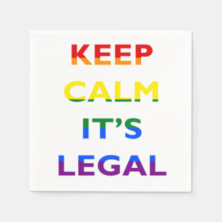 Keep Calm It's Legal Support LGBT Napkins Paper Napkins