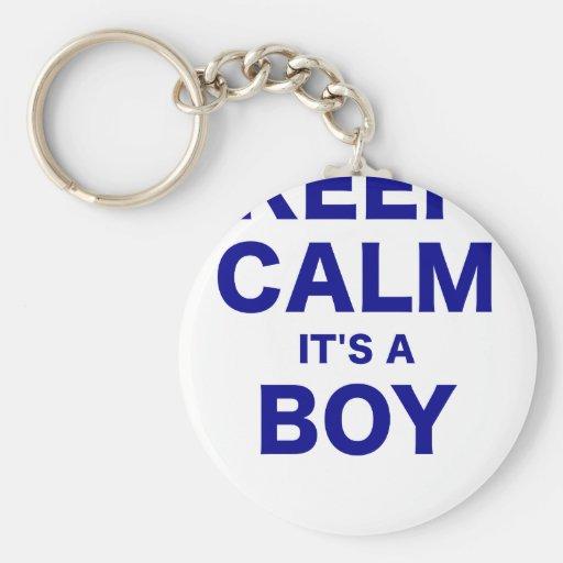 Keep Calm Its a Boy Key Chain
