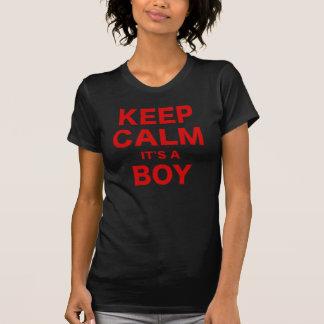 Keep Calm Its a Boy Tee Shirts