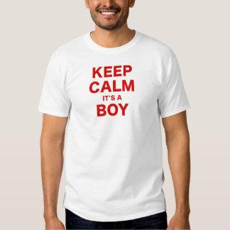 Keep Calm Its a Boy Tshirts