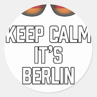 Keep Calm Its Berlin Classic Round Sticker