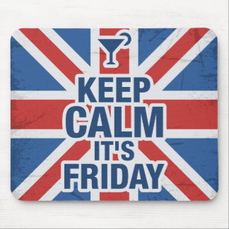 """Keep Calm it's Friday"" Funny Mouse Pad"