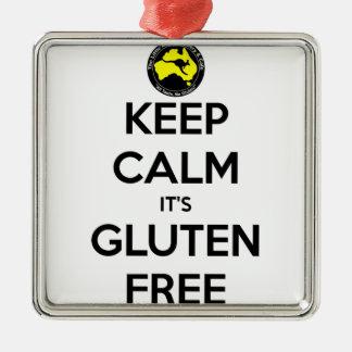 Keep Calm it's Gluten Free Christmas Ornament