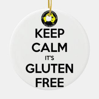 Keep Calm it's Gluten Free Round Ceramic Decoration