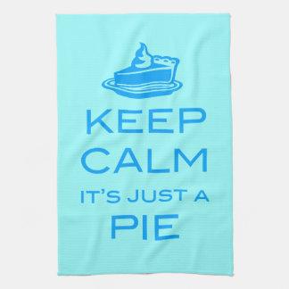 KEEP CALM IT'S JUST A PIE Kitchen Tea Towel