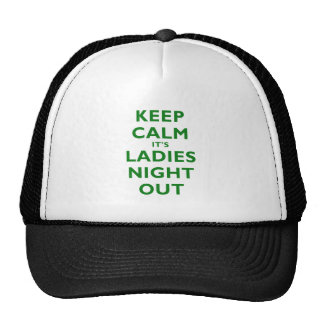 Keep Calm Its Ladies Night Out Mesh Hat