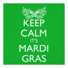 KEEP CALM IT'S MARDI GRAS SEASON CARD