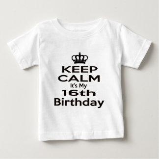 Keep Calm It's My 16th Birthday T-shirts